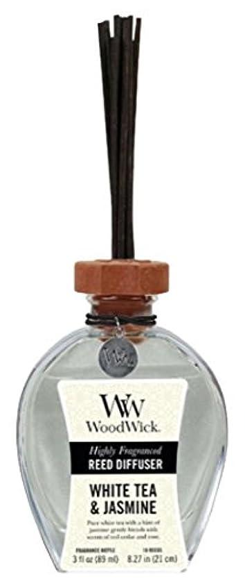 トラクター眉最初Wood Wick ウッドウィック リードディフューザーS ホワイトティージャスミン