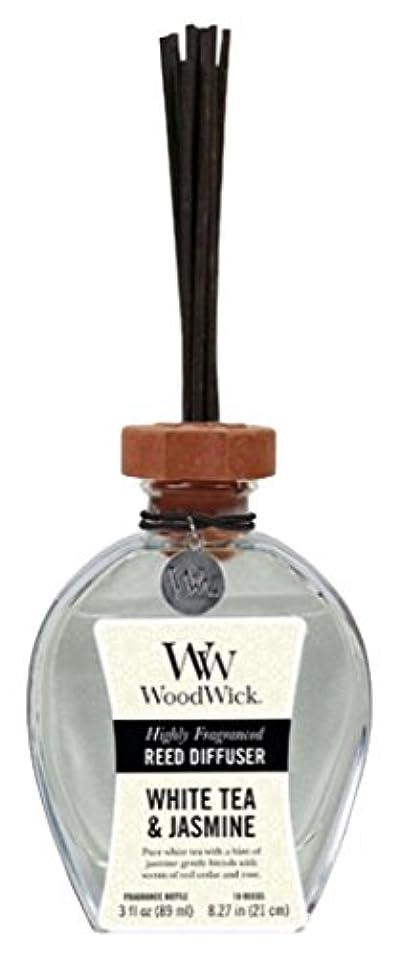 食料品店比較的ポンプWood Wick ウッドウィック リードディフューザーS ホワイトティージャスミン