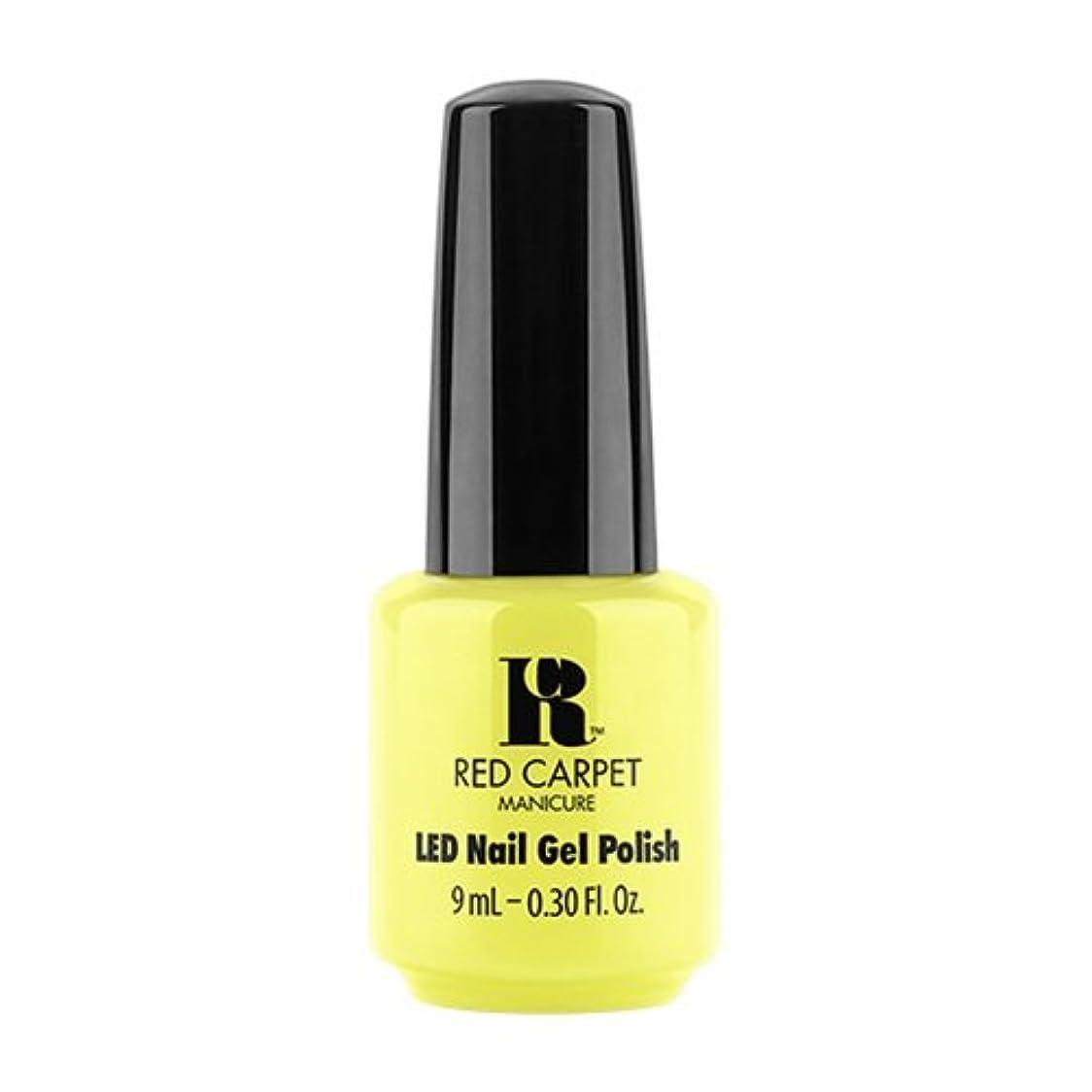 フェミニンテーブルを設定する十代Red Carpet Manicure - LED Nail Gel Polish - Summer 2017 Fiji Fever - Summer Glow - 0.3oz / 9ml