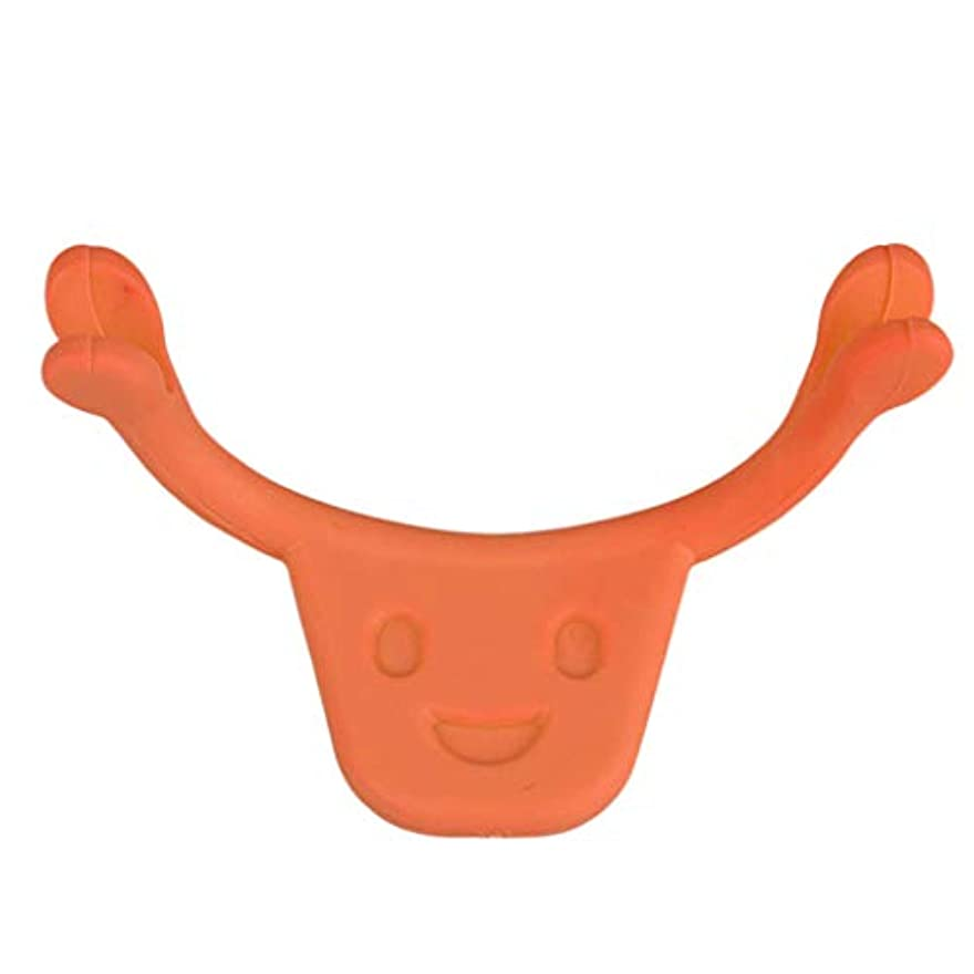 バイオレット提唱する安いです口角を上げるグッズ 表情筋 トレーニング 笑顔 二重あご 消す 小顔 ストレッチ 小顔矯正 全2色 - オレンジ