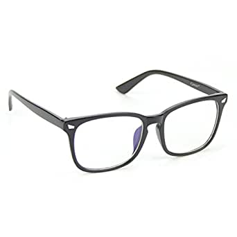 Cyxus(シクサズ) 青色光カットメガネ[透明レンズ]視力保護 眼精疲労低減に パソコン用メガネ 軽量 復古 つや消し黒フレーム
