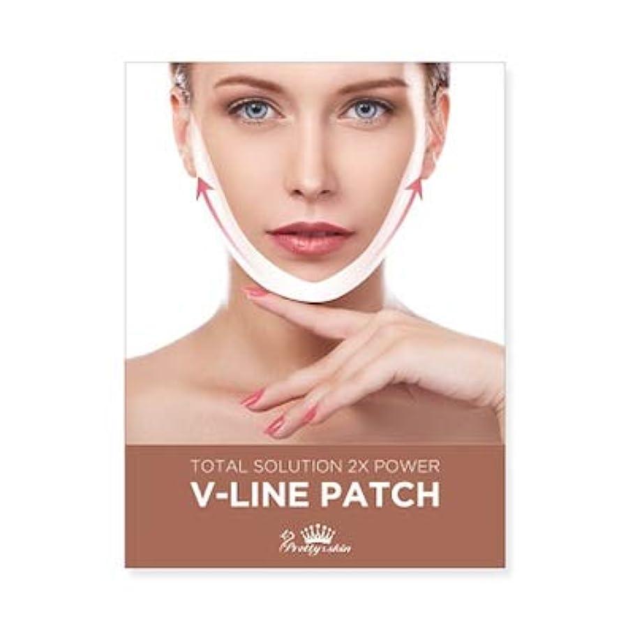 男無人慢なpretty skin プリティスキン V-LINE PATCH ブイラインパッチ リフトアップ マスク (5枚組, ホワイト)