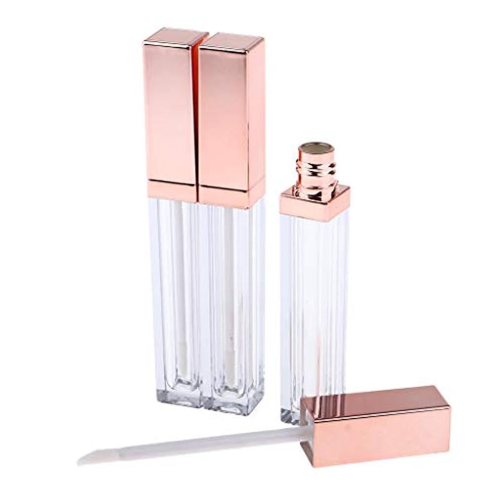 年事実レクリエーション詰替え容器 リップグロスチューブ 空 リップグロス管 全3色 - ローズゴールデン
