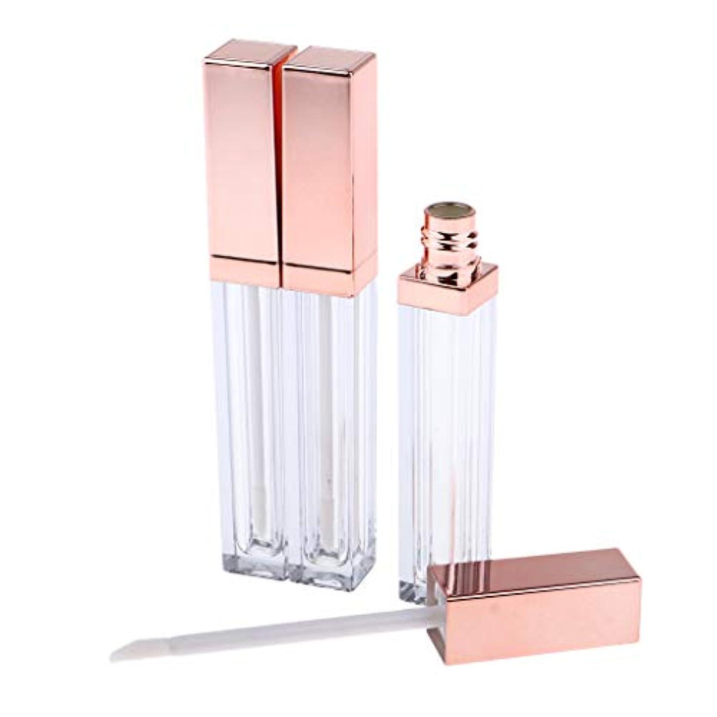 減らす分析する習慣CUTICATE 詰替え容器 リップグロスチューブ 空 リップグロス管 全3色 - ローズゴールデン