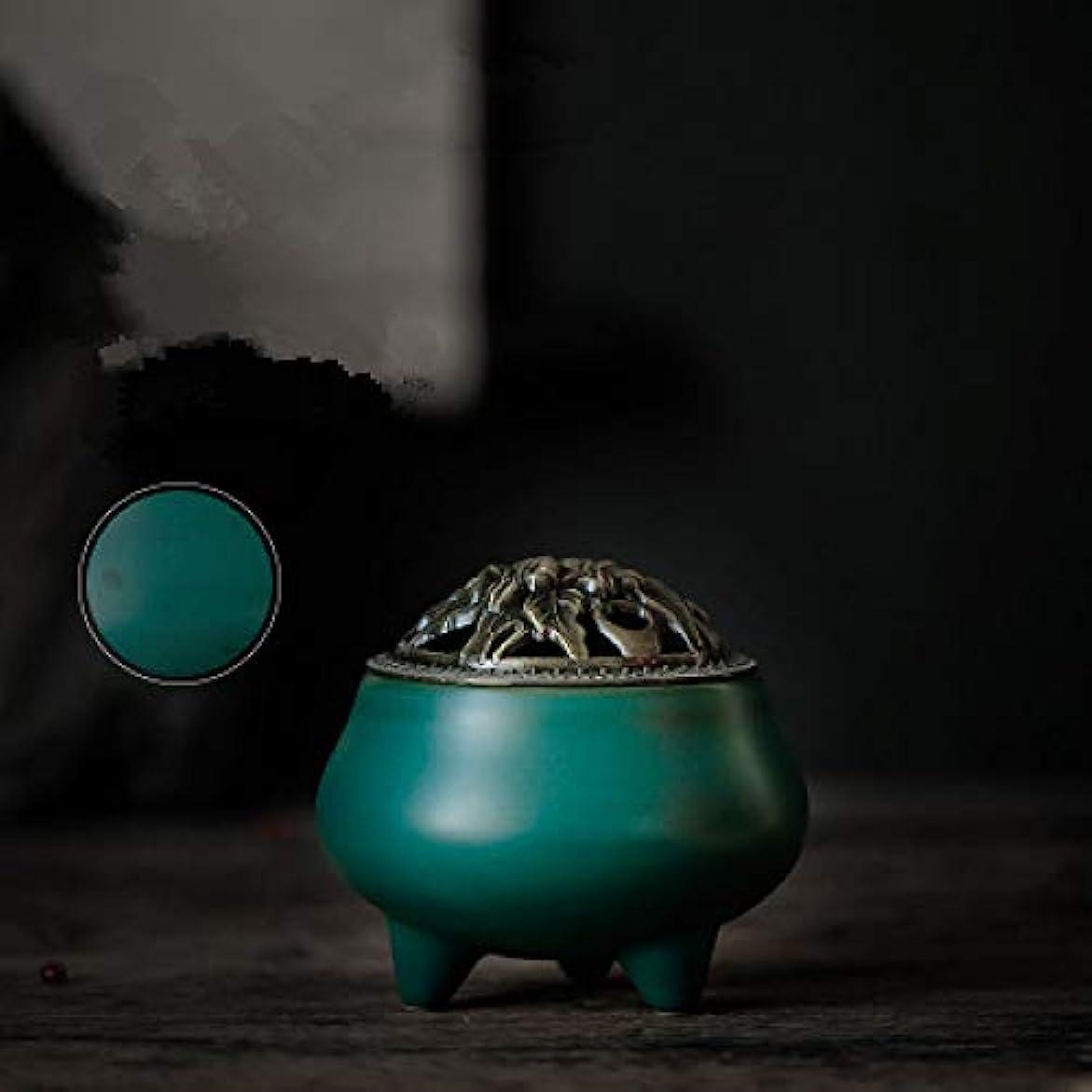 受ける悲劇アンテナレトロスタイルの滝香炉逆流香炉バーナーポットチベット金翔仏教10 * 9センチ