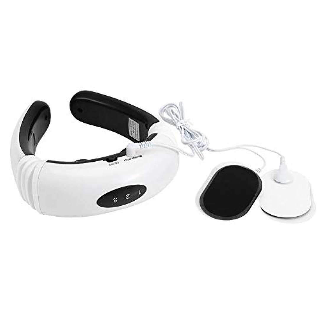 ジュース言語酔う首マッサージャー電気パルス首マッサージャー磁気療法頸椎子午線マッサージ器具