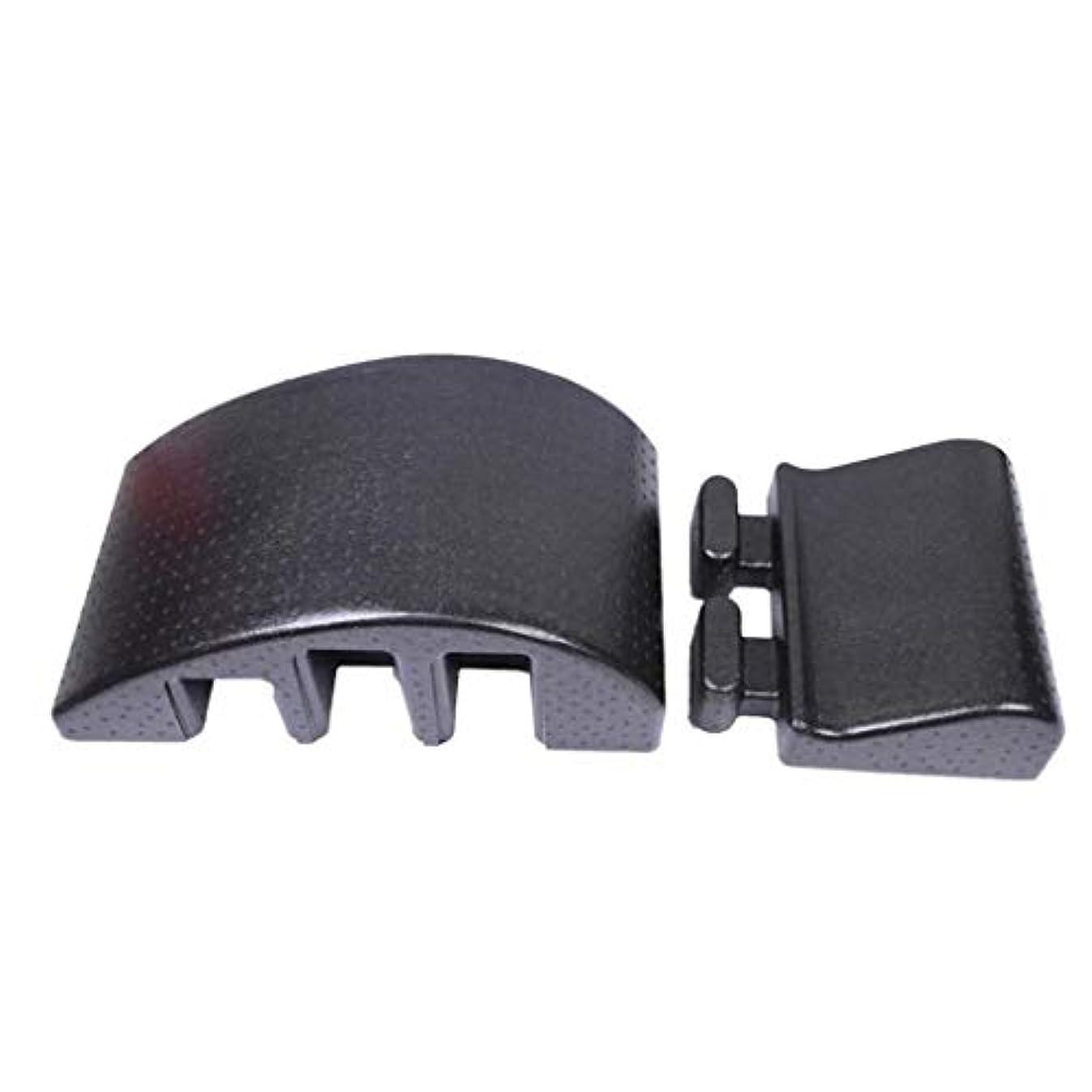おいしい苦しむ前投薬座りがちなサラリーマンに適した背部装具、背中の痛みの緩和、多機能マッサージ、湾曲したマッサージベッドピラティス,黒