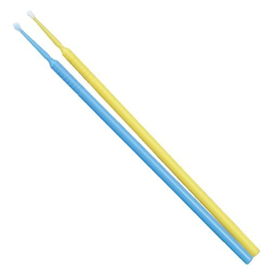 アクセシブル命題白雪姫TPCアプリケーターブラシ(マイクロブラシ)ファインφ1.5mm 100本入り(カラー:ブルーorイエロー)