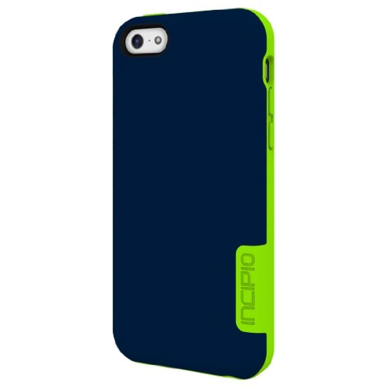 ボランティア伝記オフセットIncipio Technologies 【iPhone 5c対応フレッキシブルハードシェルケース】 OVRMLD ブルー/ライム IPH-1147-BLU