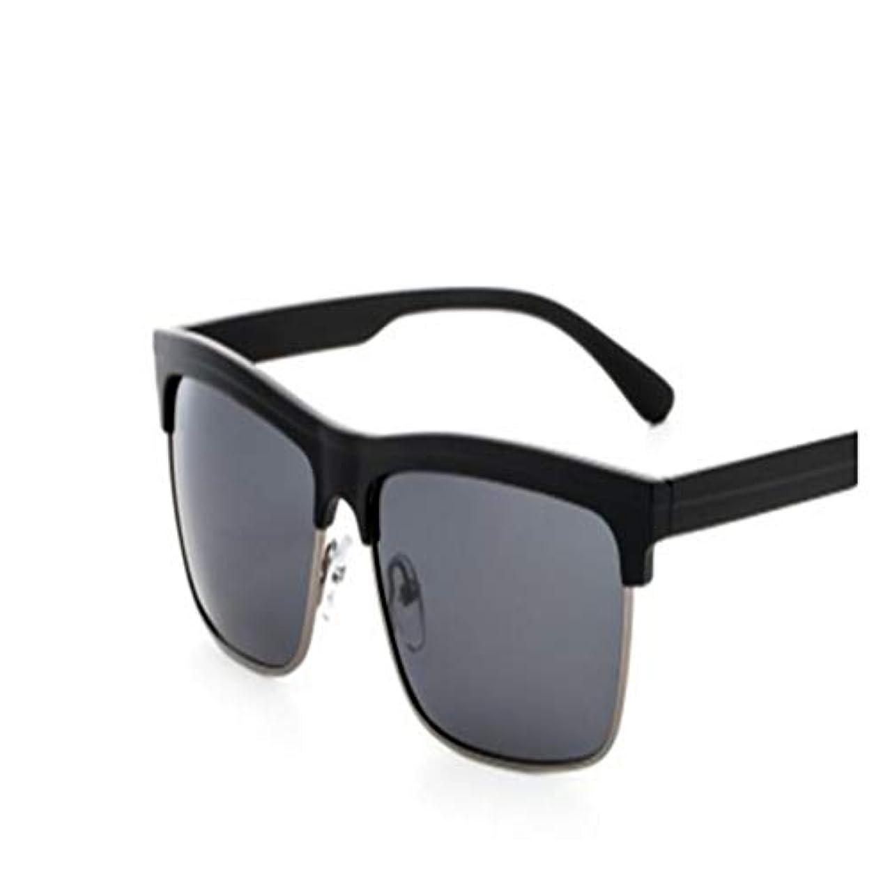 ヒロイン説得力のある記事メンズファッション偏光サングラスカジュアルメタルフレームレトロドライビングメガネビーチメガネアクセサリー-ブライトブラックグレー