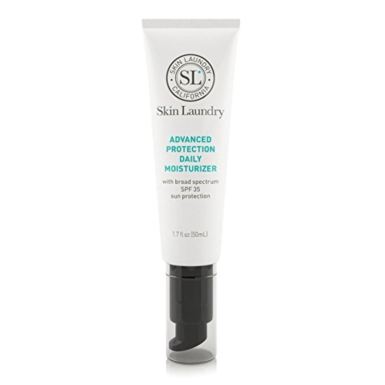 大佐人道的ビリーヤギ皮膚の洗濯高度な保護毎日保湿50ミリリットル x2 - Skin Laundry Advanced Protection Daily Moisturiser 50ml (Pack of 2) [並行輸入品]