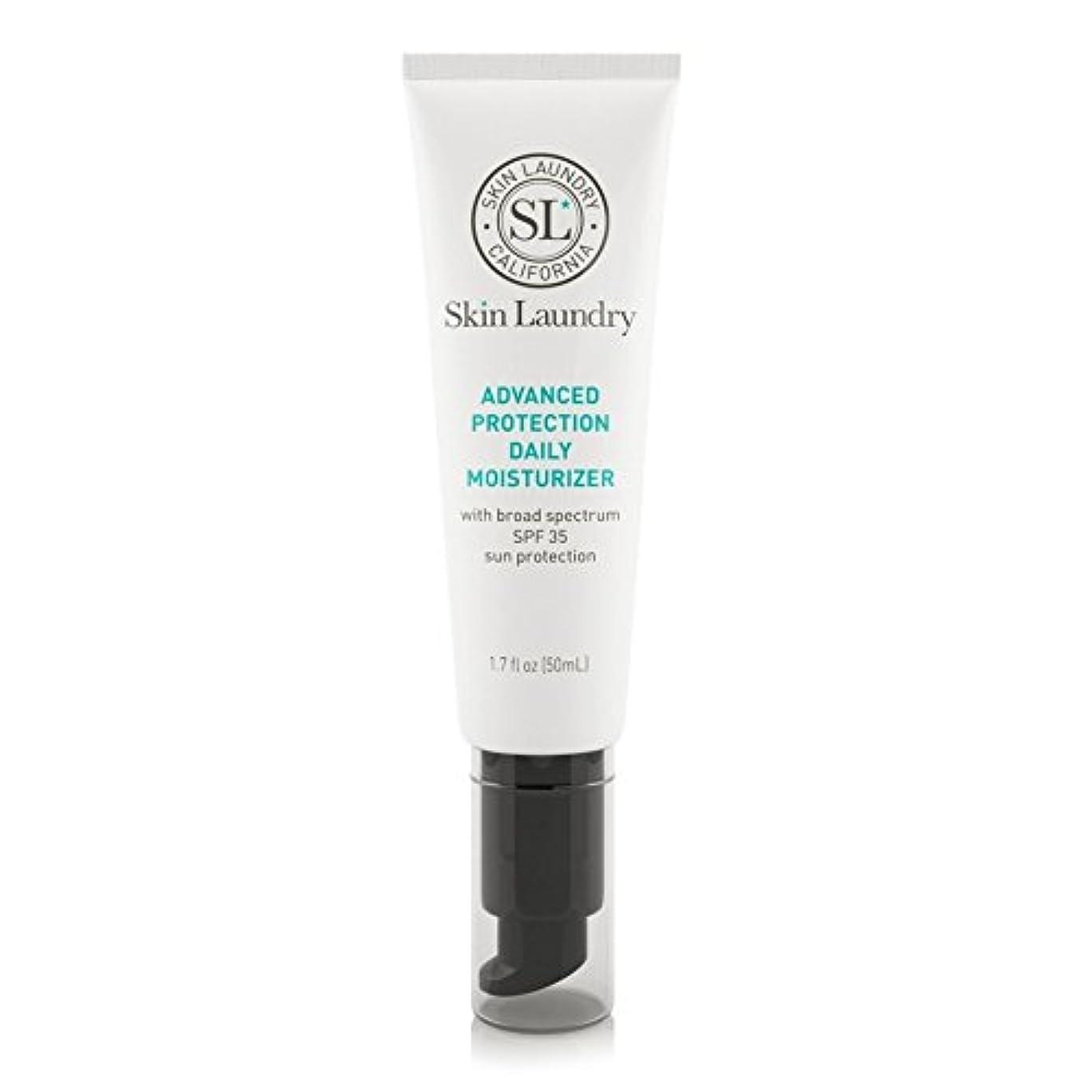 雑種サスティーン子羊皮膚の洗濯高度な保護毎日保湿50ミリリットル x2 - Skin Laundry Advanced Protection Daily Moisturiser 50ml (Pack of 2) [並行輸入品]