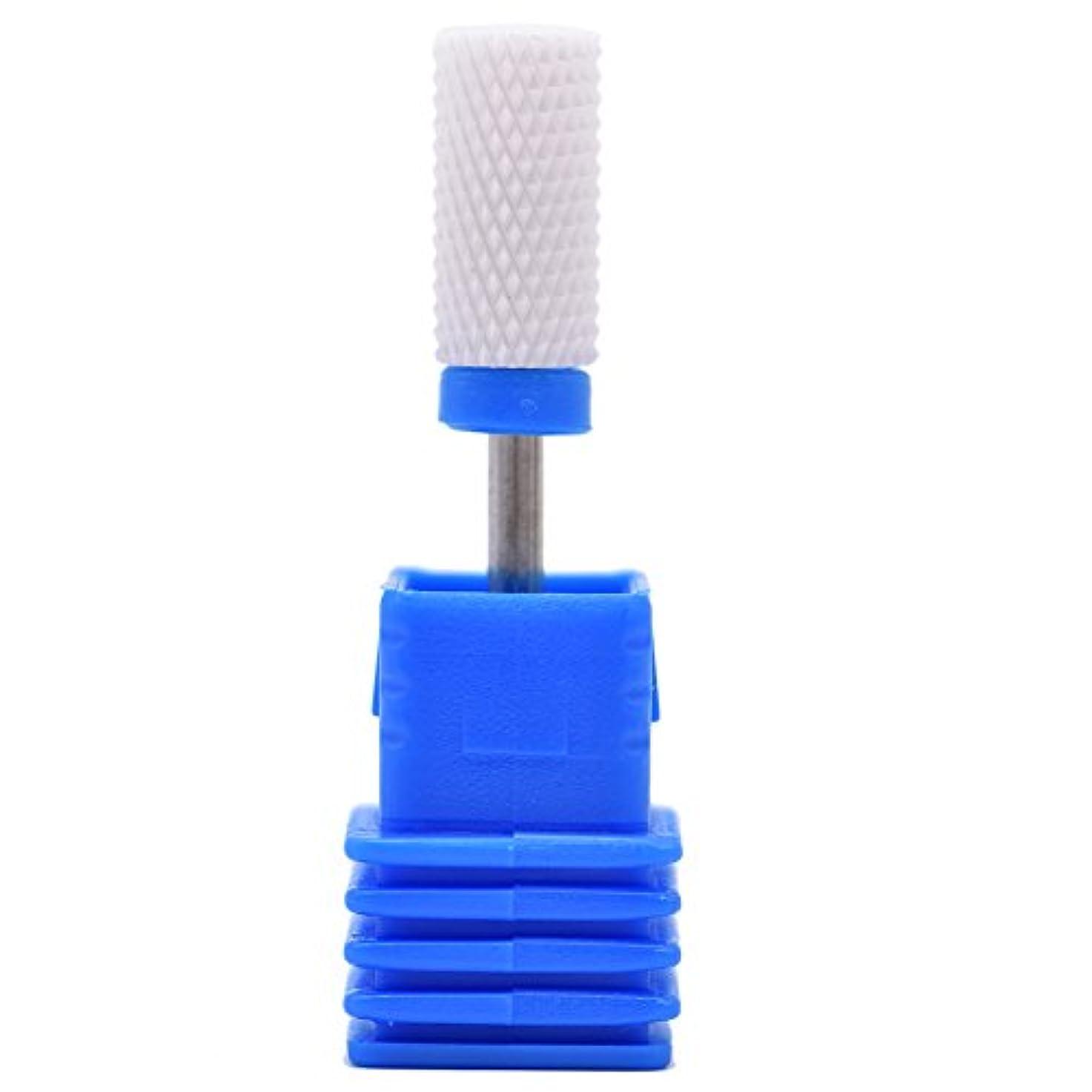 寝てるバッテリー流用するOral Dentistry ネイルアートドリルビット研削ヘッド研磨ヘッドネイルグラインドヘッド爪磨き研磨研削セラミック全3色(ブルーM(中仕上げ))