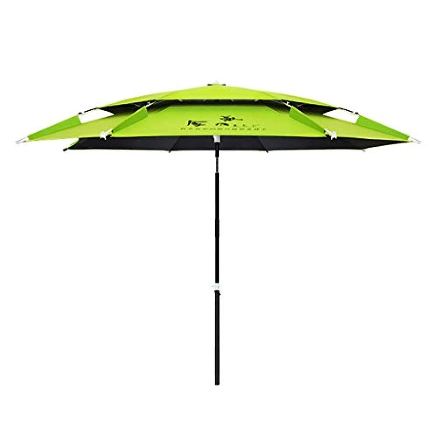 コーチ地殻本土太陽傘アルミ合金黒ガム布日焼け止め雨折りたたみ傘屋外サンシェード傘 (Size : H2.2m)