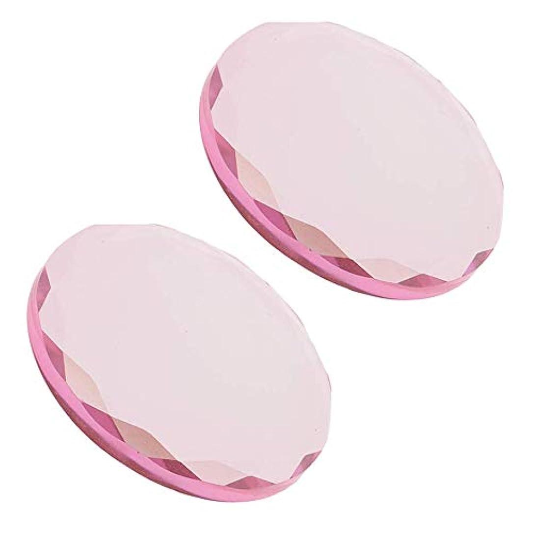 わかるロゴリップまつげエクステンション化粧品ツールに合う2ピースピンクまつげ接着剤ホルダーパレット
