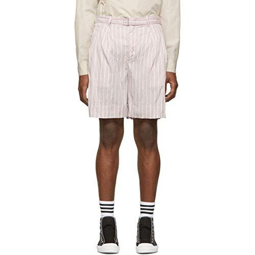 3.1 Phillip Lim (スリーワン フィリップ リム) メンズ ボトムス・パンツ ショートパンツ Pink Striped Relaxed Shorts サイズWAISTUS33 [並行輸入品]