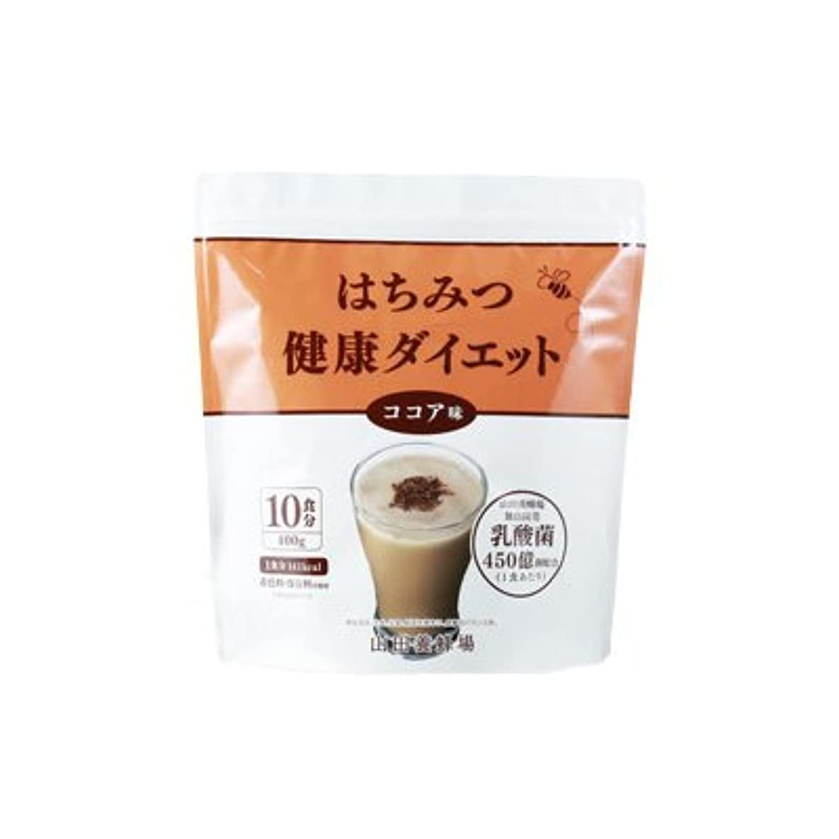 注文人種はちみつ健康ダイエット 【ココア味】400g(10食分)
