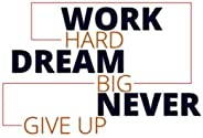 """""""Work Hard Dream Big"""" Workout Log Book - Daily Fitness Journal For Tracking Goals (120 Pages) 6 x9 P"""