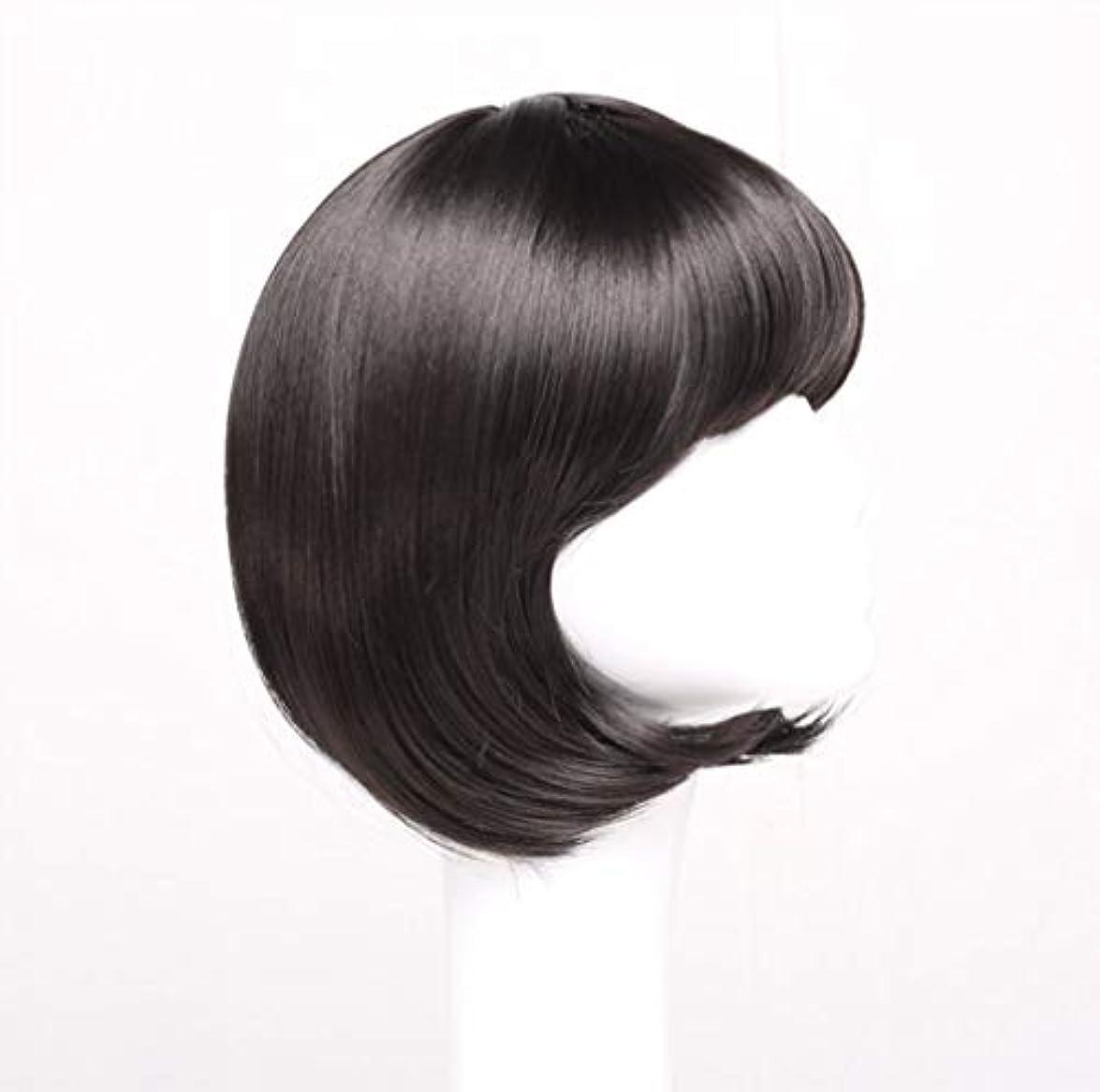 腹部ピービッシュリファイン女性かつらショートボブ波状マイクロ巻き毛合成毎日パーティーかつらとして本物の髪+無料かつらキャップ