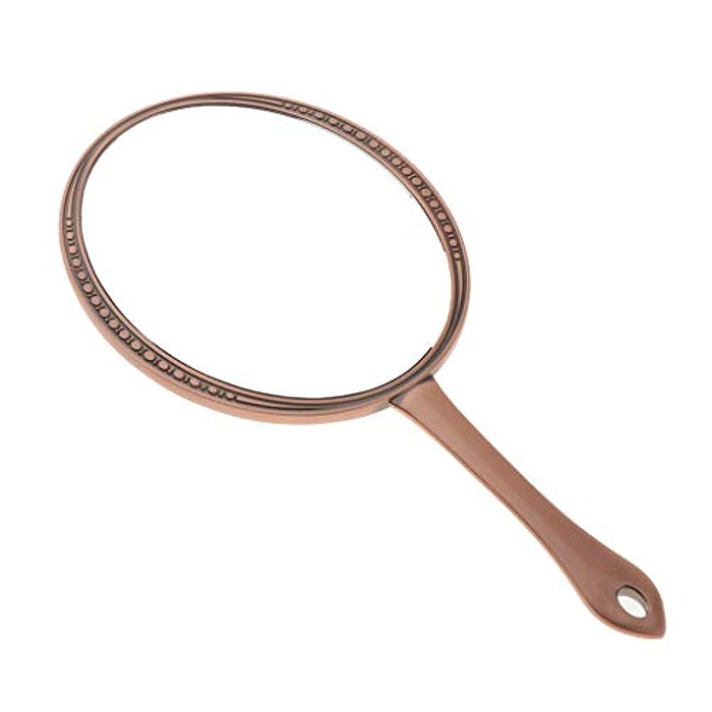 はねかけるスペア素子CUTICATE 手鏡 ハンドミラー 化粧鏡 メイクミラー メイクアップミラー メイク 円形 全3カラー - レッドブロンズ