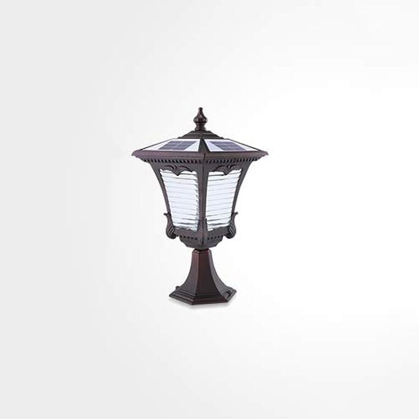 巡礼者ベース離婚Pinjeer Ledヴィンテージソーラー2色ディミングは、屋外防水ポスト照明をレトロレトロ工業用アルミコラムライトガーデンホームストリートヴィラ装飾柱ライト