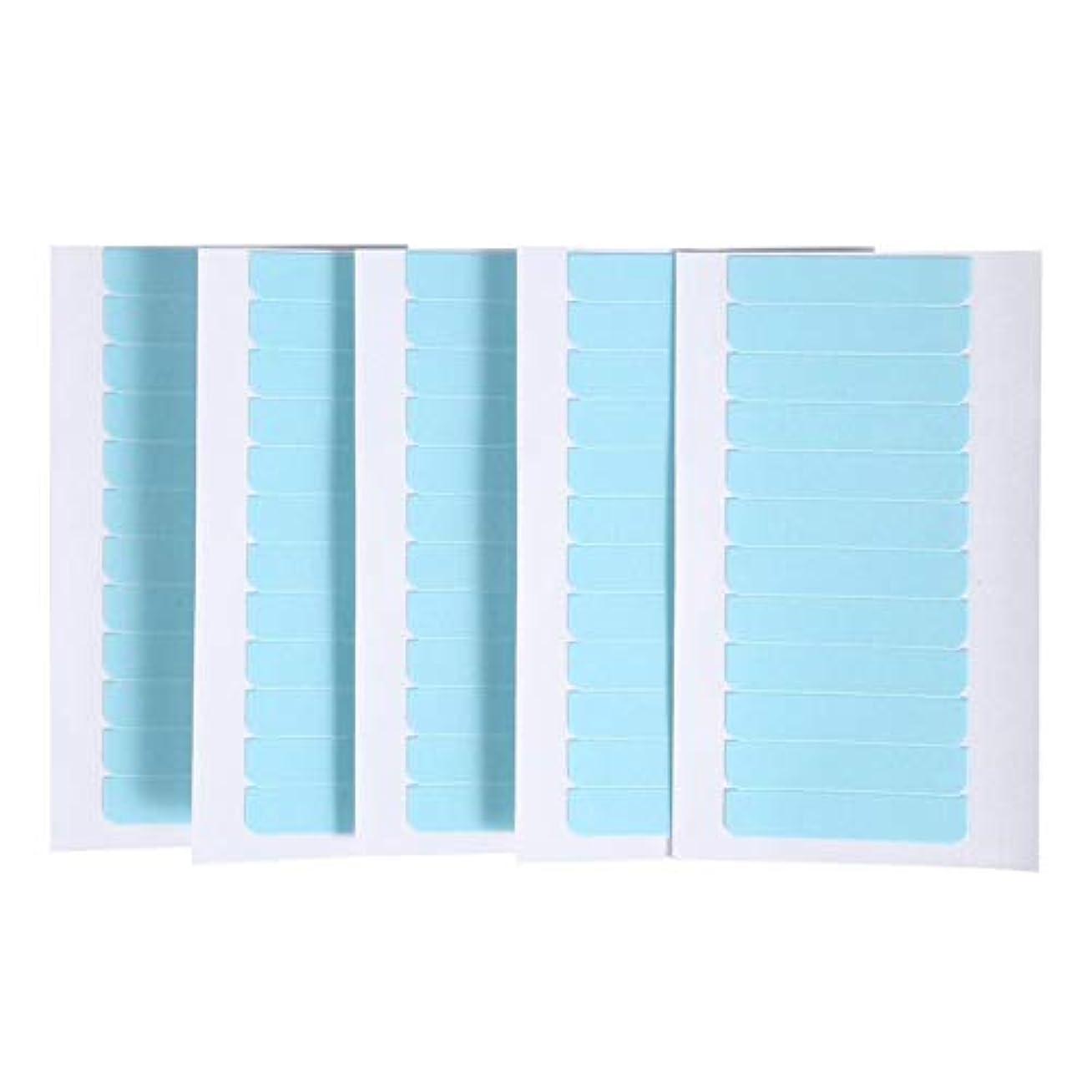 騙す検出可能ために60個/セット肌横糸エクステンション接着剤 ヘアエクステンション用粘着テープ 両面スーパーテープタブ美容ツール