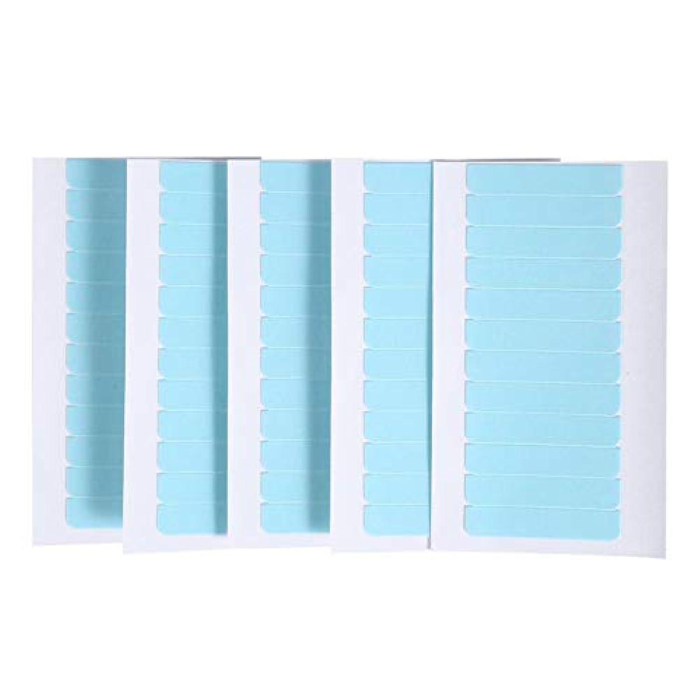 同盟フェードアウト服を洗う60個/セット肌横糸エクステンション接着剤 ヘアエクステンション用粘着テープ 両面スーパーテープタブ美容ツール