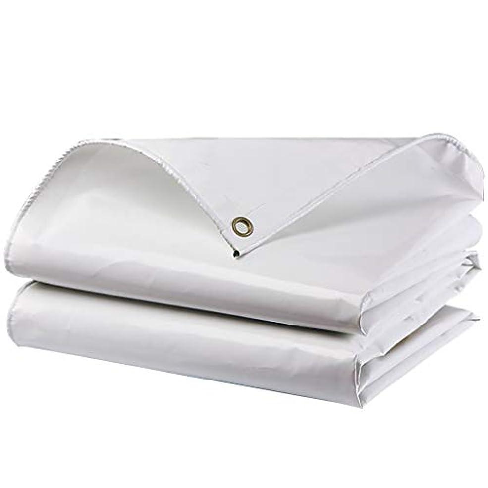 アソシエイト生き残ります物思いにふけるタープ 防水防水、PVCコーティング布防水シート、日焼け防止、酸化防止、カビ防止、引き裂き抵抗 テント (Color : White, Size : 5m × 5m)