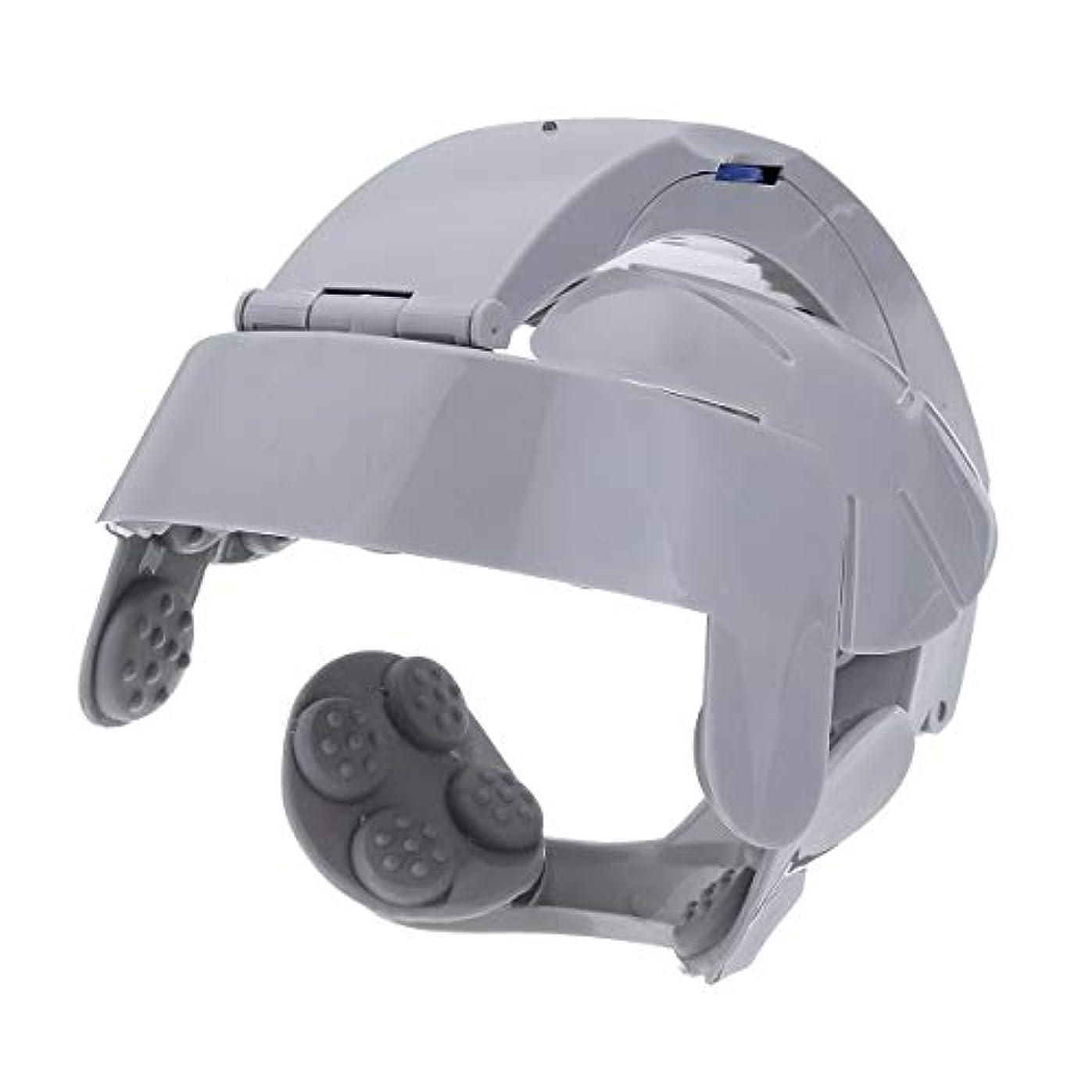 吐き出す収容する日食ヘッド振動マッサージ電動ヘッドマッサージリラックス脳経穴ストレス解放マシンポータブルのためのホーム使用