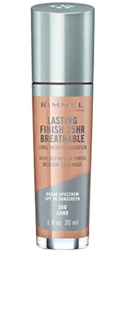 盲目勤勉なを必要としていますRIMMEL LONDON Lasting Finish 25hr Breathable Foundation - Sand (並行輸入品)