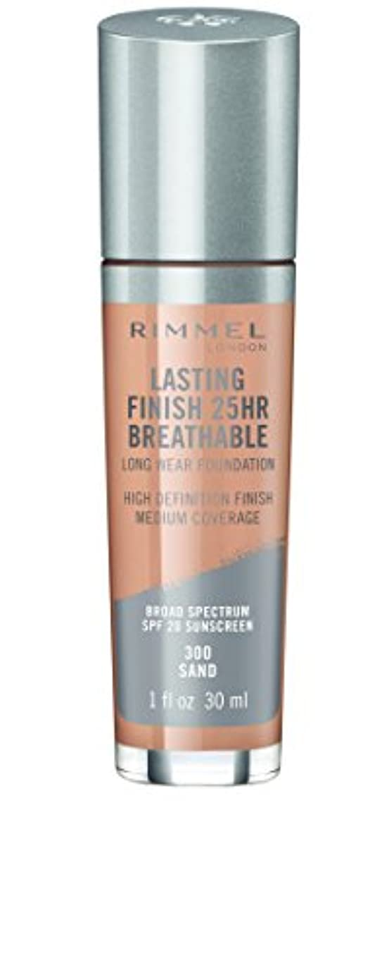 現在友だち作動するRIMMEL LONDON Lasting Finish 25hr Breathable Foundation - Sand (並行輸入品)