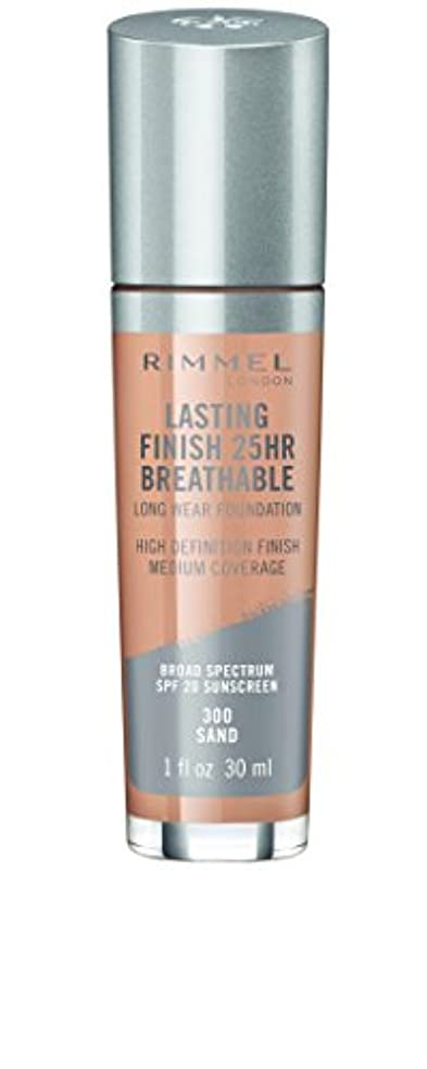 神聖キー実験室RIMMEL LONDON Lasting Finish 25hr Breathable Foundation - Sand (並行輸入品)