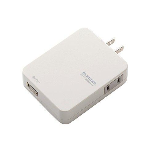 エレコム 電源タップ(USBポート付) USBポート×1 コンセント×1 ホワイト MOT-U03-2112WH
