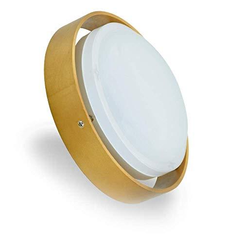 『LEDシーリングライト 木目ライト シーリングライト工事不要 簡単取付 木目調 小型 玄関ライト トイレ 廊下ライト 和室 寝室 ベランダ 階段 照明器具 おしゃれ (10W 昼白色)』のトップ画像