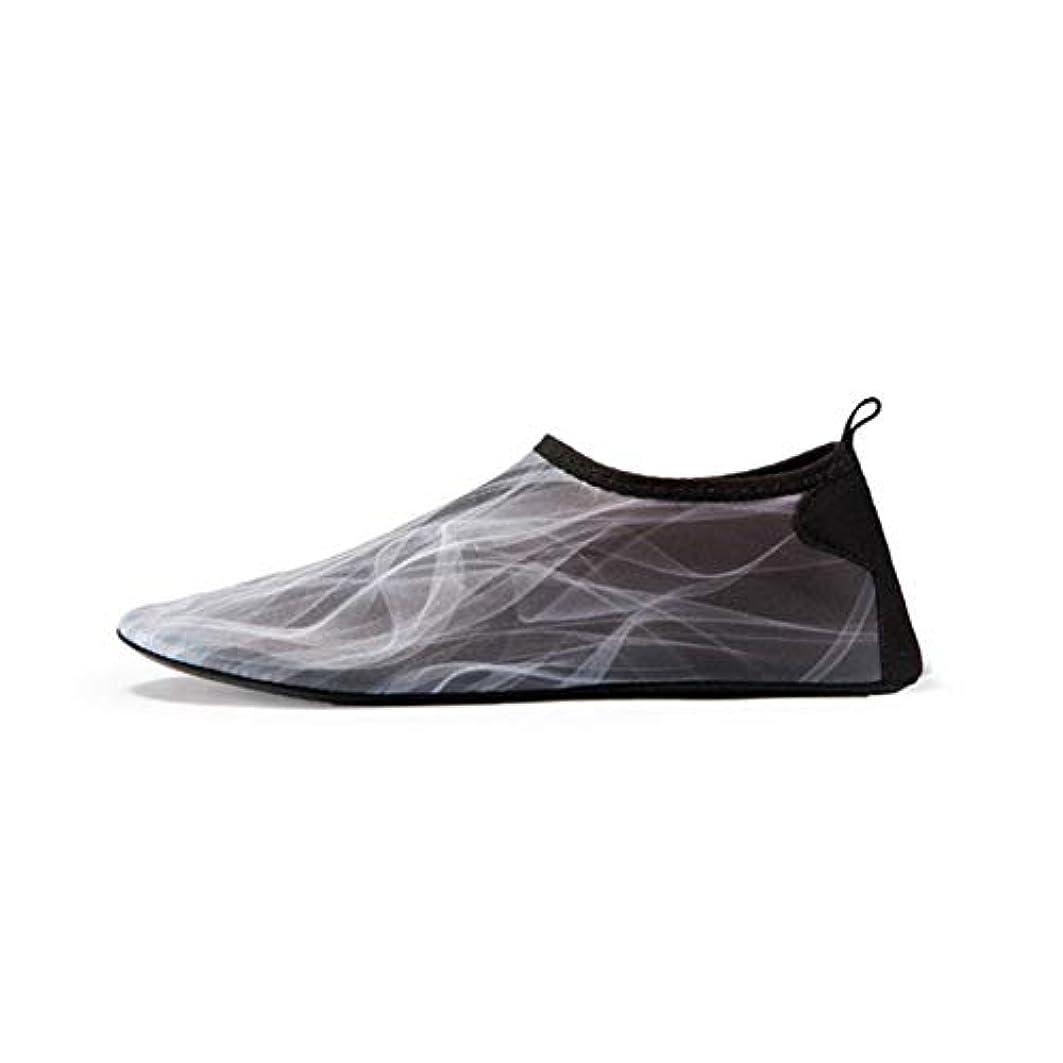 復活する実り多いブーム裸足の水の靴、男性の女性の速い乾燥した軽量の水泳の靴の水泳ランニングサーフィンを運転する泳ぐことのためのアクアエアロビクスの靴ダイビングカヤックビーチヨガ,Gray,42