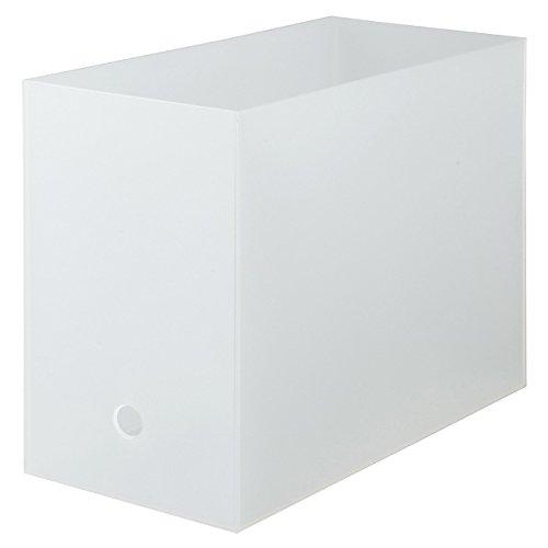 無印良品 ポリプロピレンファイルボックス・スタンダードタイプ・ワイド・A4用 約幅15×奥行32×高さ24cm