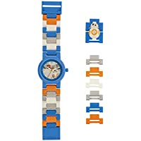 LEGO Star Wars 8020929 BB-8 Kids Minifigure Link Buildable Watch | blue/orange| plastic | 25mm case diameter| analogue quartz | boy girl | official