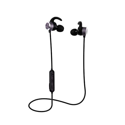 Bluetooth イヤホン Hi-Fi 高音質 JellyBlue H2 IPX5防水 バッテリー残量表示 ワイヤレス イヤホン 6時間再生 マイク ブルートゥース スポーツ APTX CVC6.0 マグネット搭載 ノイズキャンセリング搭載 AAC対応 iPhone iPod Android対応 ブラック 【メーカー1年保証付き】