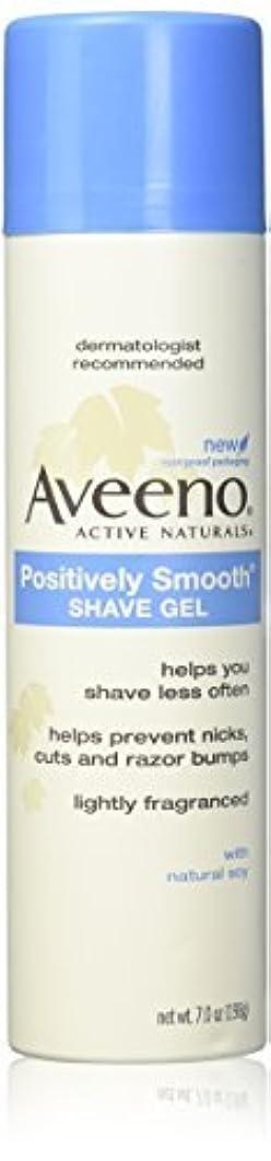 親指チーズ民間人Aveeno Positively Smooth Shave Gel - 7 oz - 2 pk [並行輸入品]