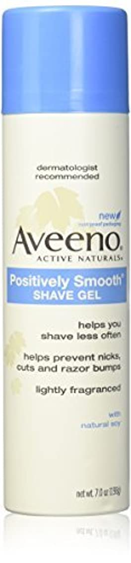 Aveeno Positively Smooth Shave Gel - 7 oz - 2 pk [並行輸入品]