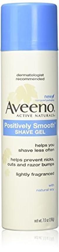 ベアリングサークルアンタゴニスト展示会Aveeno Positively Smooth Shave Gel - 7 oz - 2 pk [並行輸入品]
