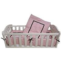 Baby Doll Bedding Hotel Style Mini Crib/ Port-a-Crib Bedding Set, Pink by BabyDoll Bedding