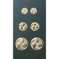 伊勢 - 宮忠 - 左三つ巴紋金具 本金鍍金 1寸5分
