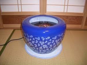 ハロゲンヒーター即暖 火鉢 青