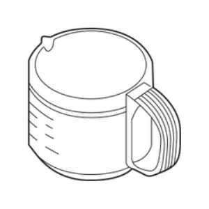 ZOJIRUSHI 象印 コーヒーメーカー用ガラス容器(ジャグ) ステンレスブラウン柄 jagecaj-xj