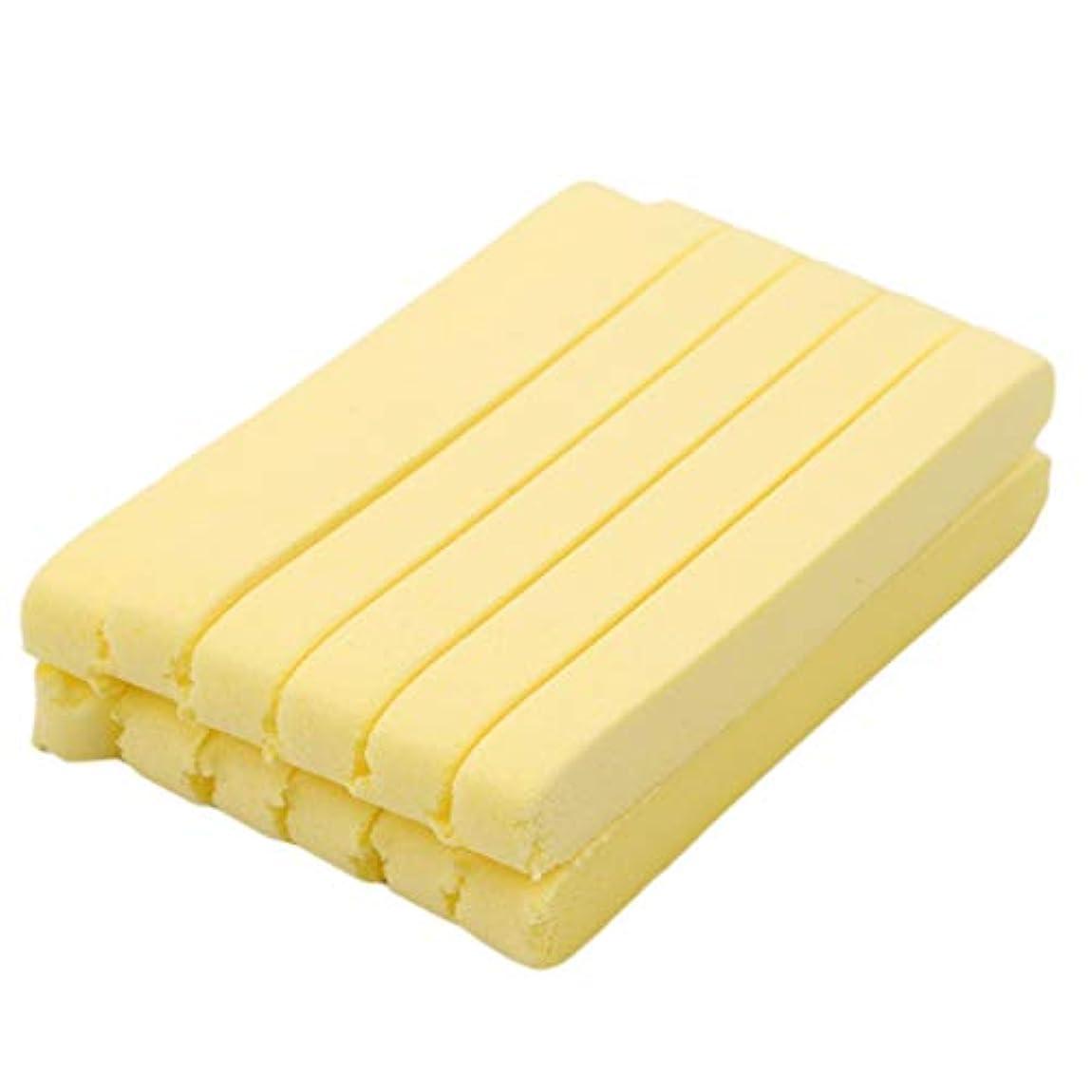 発火する残る寝具GOMYIE 12ピースコンプレッションサロンスパクレンジングローションパフスポンジスティッククレンザー(黄色)