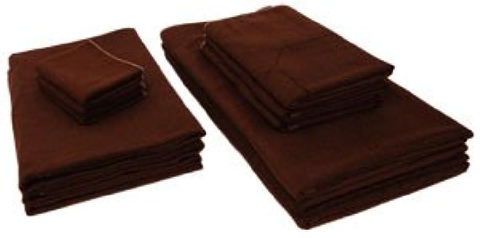 のホストスケッチ破壊的なまとめ売り やわらか バンブー 竹繊維 タオルシーツ (ソフトモカ 10枚) 110×210cm 竹タオル 業務用タオル