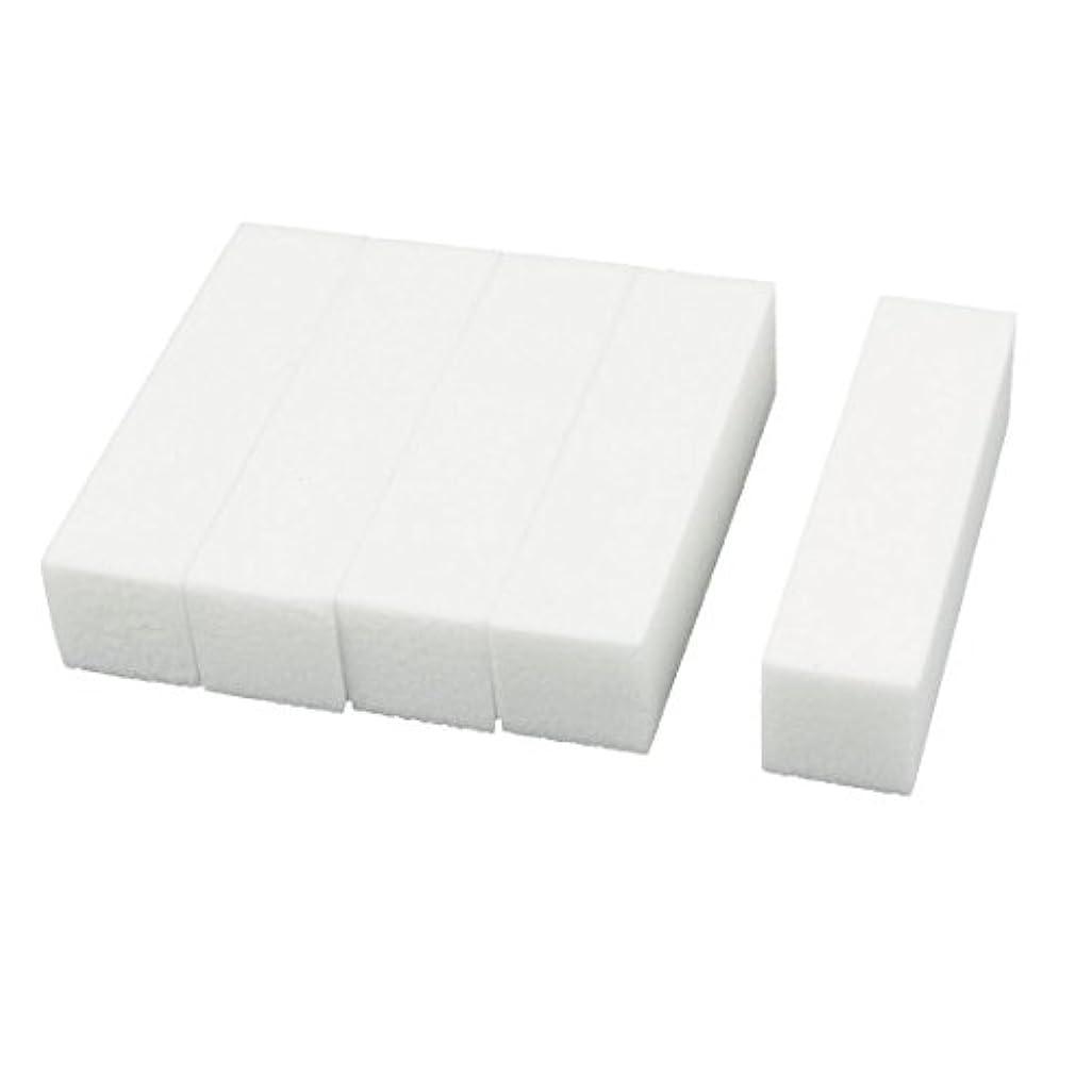 貪欲不和繰り返すuxcell ネイルファイル サンディングブロック ヒント マニキュアツール バッファ ホワイト 4ウェイ 5個セット