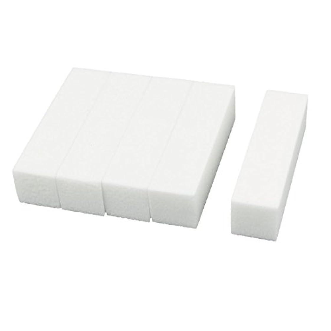 ランダムドナウ川アデレードuxcell ネイルファイル サンディングブロック ヒント マニキュアツール バッファ ホワイト 4ウェイ 5個セット