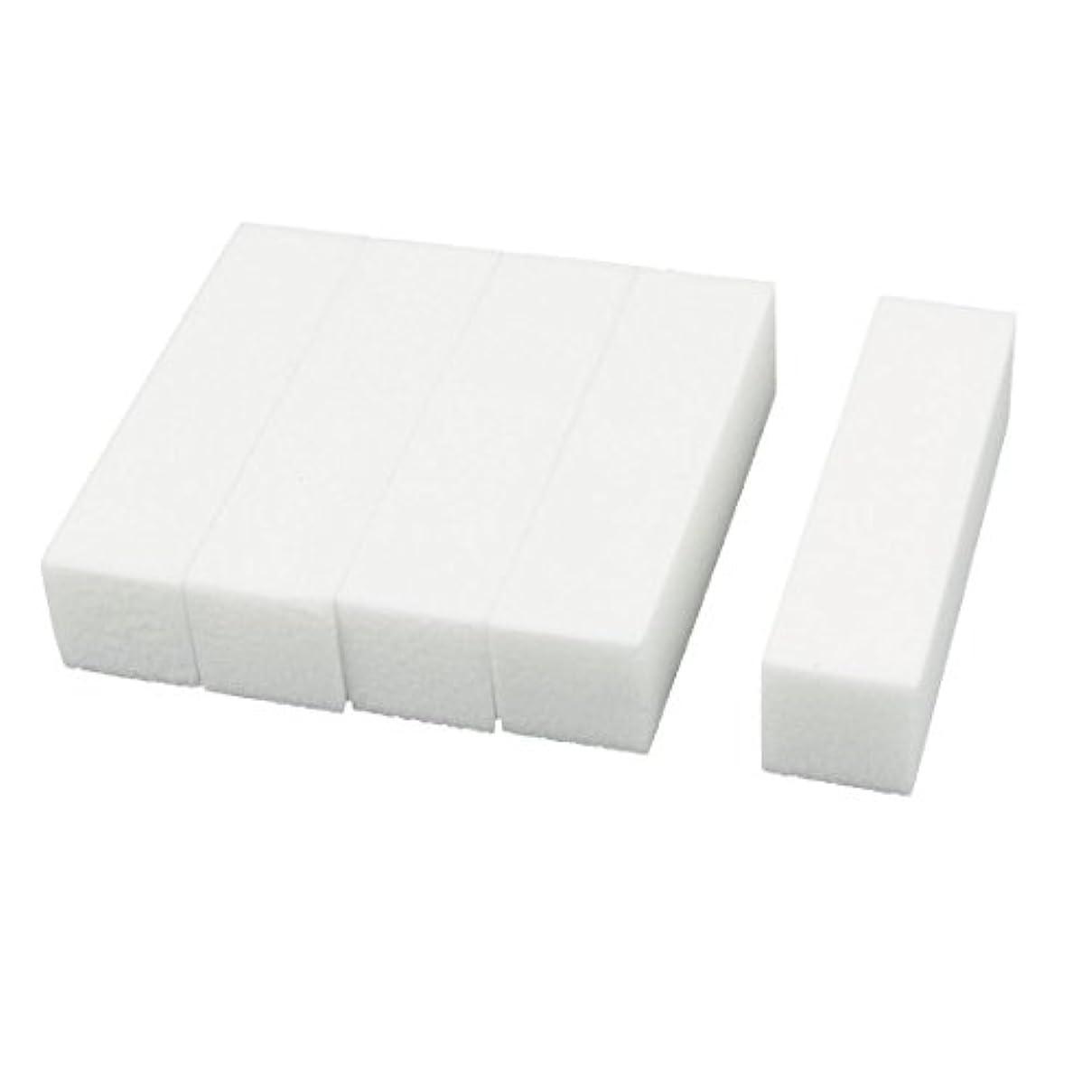 役に立たない贈り物動機uxcell ネイルファイル サンディングブロック ヒント マニキュアツール バッファ ホワイト 4ウェイ 5個セット